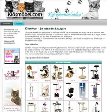 Så här ser Klösmöbel.com ut!