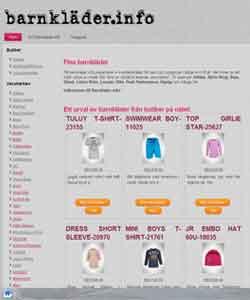 Så här ser barnkläder.info ut!